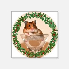 """RoundHamster5 Square Sticker 3"""" x 3"""""""