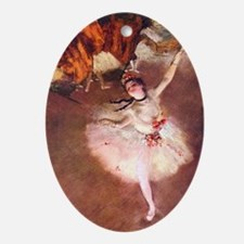 The Star (Dancer on the Stage) by Ed Oval Ornament