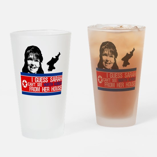 palin_north_korea_from_house Drinking Glass