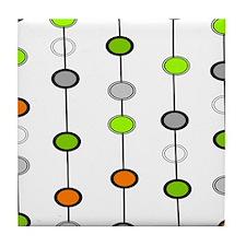 Mid Century Modern 2 Tile Coaster