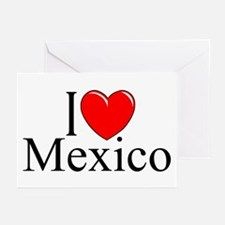 """I Love Mexico"" Greeting Cards (Pk of 10)"