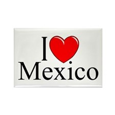 """I Love Mexico"" Rectangle Magnet"