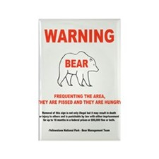 Pissed And Hungry Bear Danger Magnet (10 pack)
