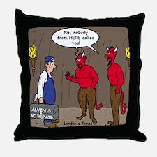 Hell AC Repair Throw Pillow