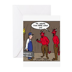 Hell AC Repair Greeting Cards (Pk of 10)
