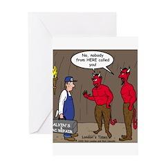 Hell AC Repair Greeting Card