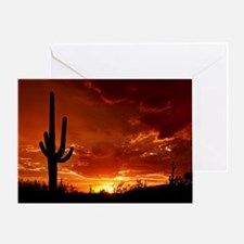 Saguaro Sunset-2 Greeting Card