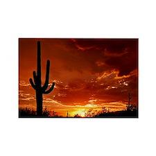 Saguaro Sunset-2 Rectangle Magnet (10 pack)