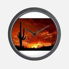 Saguaro Sunset-2 Wall Clock