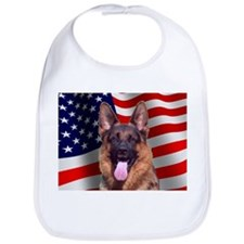 Patriotic German Shepherd Bib