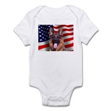 Patriotic German Shepherd Infant Bodysuit