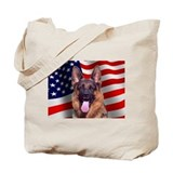 German shepherd large Canvas Totes