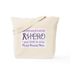 Proud Preemie Mom Tote Bag