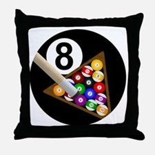 8ball_large Throw Pillow