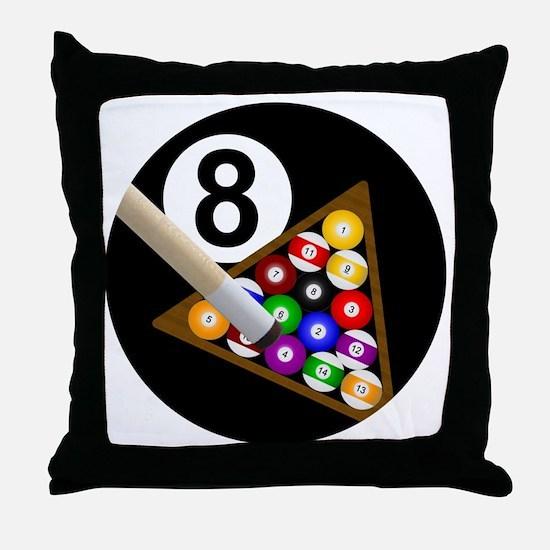 8ball_large Throw Pillow