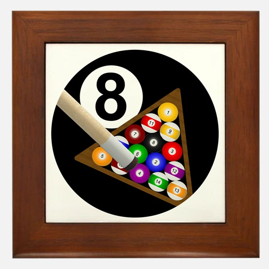 8ball_large Framed Tile