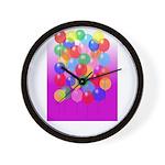 Balloons Time Wall Clock