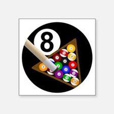 "8ball_large Square Sticker 3"" x 3"""