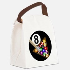 8ball_large Canvas Lunch Bag