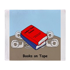 Books on Tape Throw Blanket