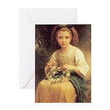 Bouguereaus Little Girls Art Calenda Greeting Card