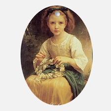 Bouguereaus Little Girls Art Calenda Oval Ornament