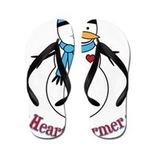 HeartWarmerSnowman Flip Flops