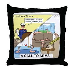 Call to Arms Throw Pillow