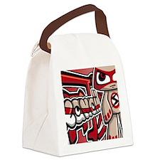 SeriousNoteCardKanji Canvas Lunch Bag