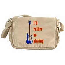 RatherBePlayingBass Messenger Bag