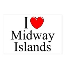"""I Love Midway Islands"" Postcards (Package of 8)"