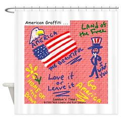 American Graffiti Shower Curtain