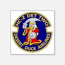 "desert duck Square Sticker 3"" x 3"""
