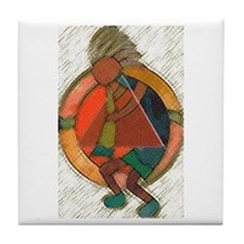 Kokopelli healing Tile Coaster