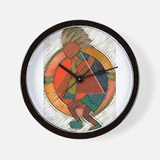 Kokopelli healing Wall Clock