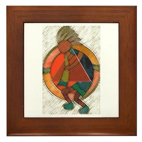 Kokopelli healing Framed Tile