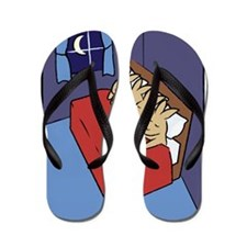 sleepingbunnies_rect Flip Flops