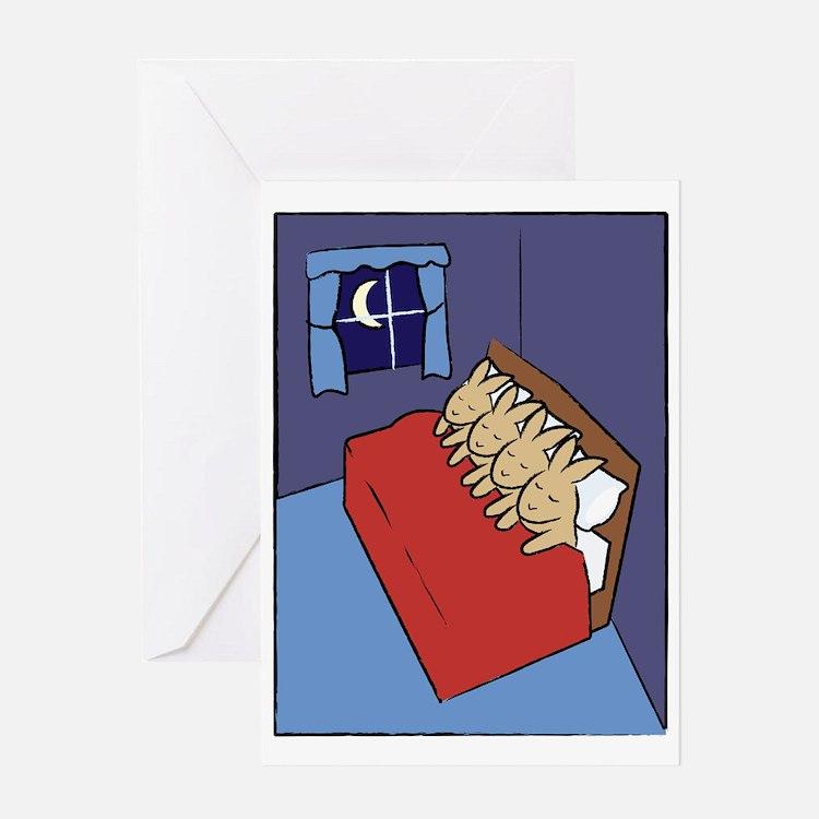 sleepingbunnies_rect Greeting Card