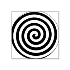 Hypnotic Spiral Oval Sticker