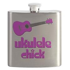 Ukulele Chick Flask