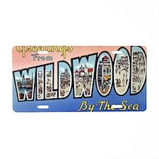 Wildwood PC pre-war Aluminum License Plate
