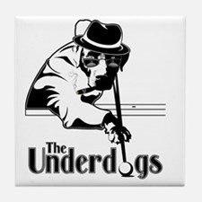 underdogsnew shirt white 2 Tile Coaster