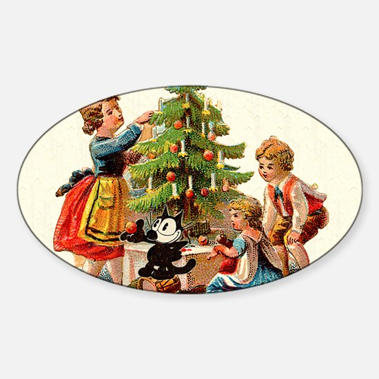 11 FELIX AND KIDS AND TREE Sticker (Oval)