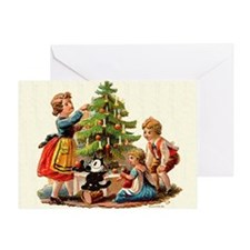 11 FELIX AND KIDS AND TREE Greeting Card