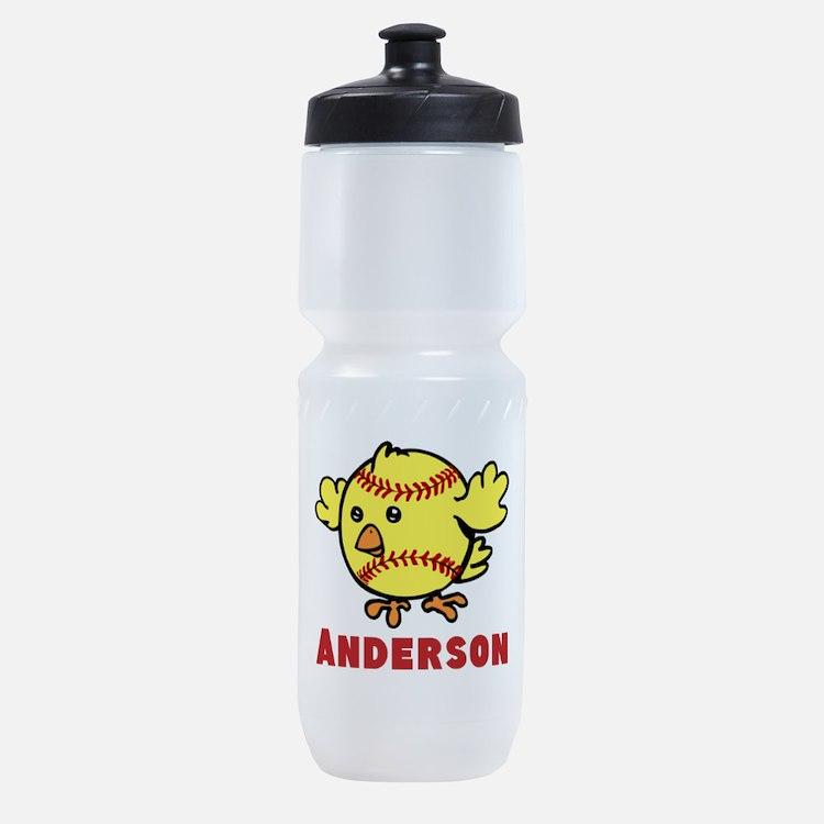 Personalized Softball Chick Sports Bottle