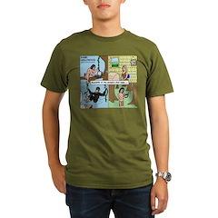 Tarzan Swinging Organic Men's T-Shirt (dark)