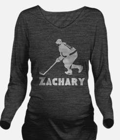 Personalized Hockey Long Sleeve Maternity T-Shirt