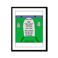 RIP Socrates Framed Panel Print