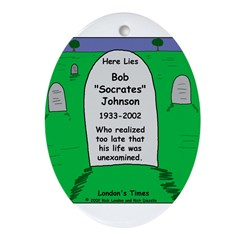 RIP Socrates Ornament (Oval)