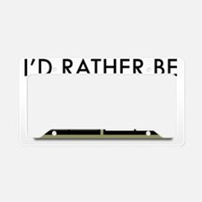 Id-rather-be-lost-2-(white-sh License Plate Holder